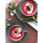 Beet, ginger, coconut soup